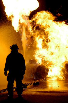 Fire training exercise